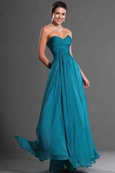 2013 Prom Dresses A Line Floor Length Sweetheart Chiffon Ruffles