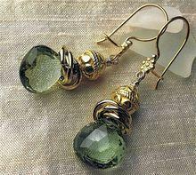 Green Topaz earrings 18K Vermeil elegance from Camp Sundance