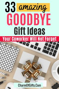 These goodbye gifts for Coworkers are non-cheesy and useful. Office gifts don't have to be boring! If you are looking for a memorable sad to see you go gift then here are 33 ideas. The list includes farewell gift ideas for boss or coworker leaving. Gift For Coworker Leaving, Goodbye Gifts For Coworkers, Leaving Gifts, Gifts For Boss, Farewell Gifts, Going Away Gifts, Office Gifts, How To Memorize Things, Sad