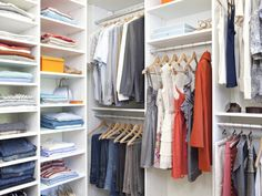 Walk-in boutique style closet | California Closets