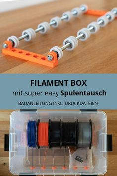 DIY Filament Box mit super easy Spulentausch Foolproof bobbin exchange with this DIY filament box. With this simple construction manual including free print files you can build a filament box to achie 3d Printer Designs, 3d Printer Projects, Diy Projects, 3d Printer Parts, Printer Scanner, 3d Prints, Free Prints, Microsoft Surface, Hammacher Schlemmer