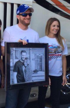 Dale Earnhardt Jr and Amy reimann.