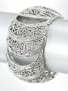BEAUTIFUL MARCASITE STRETCH BRACELET:offered by brighton bay premier jewelry