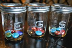 Good behavior...when they get a certain amount in their jars, they get a prize.