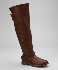 Brown Ginnie Over-the-Knee Boot by Chase & Chloe on #zulily