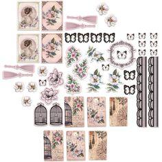 Victorian DIE CUTS, Ephemera Pack, Vintage Die Cuts, Die Cut Ephemera, Floral Die Cuts, Magnolia Lane, Victorian Ephemera Pack by OneDayLongAgo on Etsy