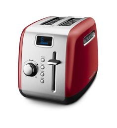 KitchenAid® 2-Slice Toaster with Manual High-Lift Lever and Digital Display (KMT222CU Contour Silver) |