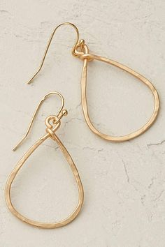Anthropologie EU Pandora Hoop Earrings. We are firm believers that every jewellery box needs a solid collection of elegant, timeless designs - like these sophisticated gold plated hoops.