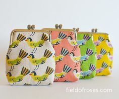 Card Case Business Card Holder Frame Purse Coin by fieldofroses