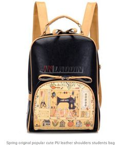 0945c31ebf Spring original popular cute PU leather shoulders students bag - See more  at  http