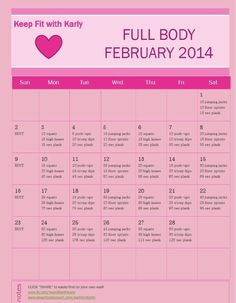 February work out calendar workouts Beauty Routine Calendar, Beauty Routines, Skincare Routine, Routine Planner, Skin Care Regimen, Skin Care Tips, Keep Fit, Healthy Recipes, Skin Problems
