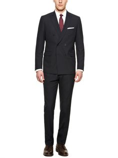 Mozar Double-Breasted Suit by Calvin Klein White Label at Gilt Double Breasted, Calvin Klein, Label, Suit Jacket, Dressing, Suits, Jackets, Shopping, Tops