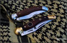 Szankovits, Szentendre, bicska, Fejesgörbe, késesház, bicskaház Guns And Ammo, Folding Knives, Hungary, Traditional, Pocket Knives, Butterfly Knife