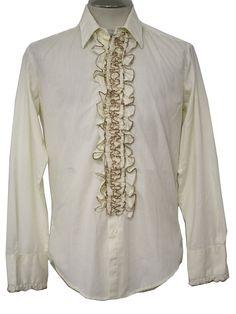 1960 39 S Pink Ruffled Men 39 S Vintage Tuxedo Shirt L 60 39 S