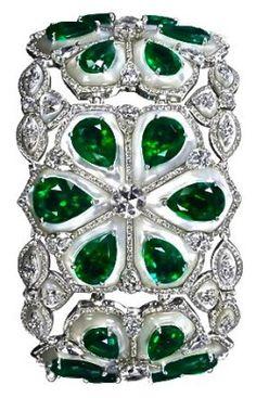 Emerald & Diamond Ba beauty bling jewelry fashion