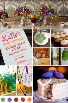 jewel tone baby shower, fall colors