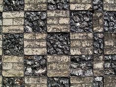 flint and brick