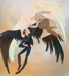 aziraphale x crowley Michael Sheen, Good Omens Book, All Meme, Fanart, Terry Pratchett, Angels And Demons, Crowley, Book Fandoms, Best Couple
