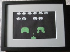 Space Invader Cross Stich by Kittychanann