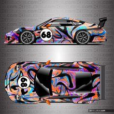 Full Car Wraps and Racing Liveries Printed and Shipped - KI Studios Porsche 997 Turbo, Porsche 718 Boxster, Porsche 718 Cayman, Ferrari F12 Tdf, Racing Car Design, Porsche Models, Exotic Sports Cars, Performance Cars, Car Wrap