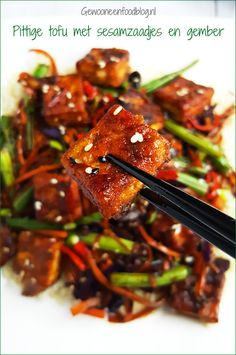 Tofu Recipes, Tempeh, Kung Pao Chicken, Japchae, Plant Based, Veggies, Ethnic Recipes, Kitchen, Gluten