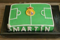 Tarta campo fútbol Real Madrid