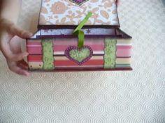 Tutorial: come fare una Scatola Scrap Porta bustine da The - Tea bags holder Box