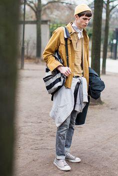 Les street looks des mannequins de la Fashion Week homme automne-hiver 2015-2016 5
