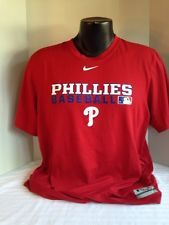 Nike Red Philadelphia Phillies MLB AC Polyester Dri-Fit T-Shirt Size L