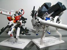 'Toy' from the 'Gundam Fix Figuration' line. Designs reimaged by Hajime Katoki. The Gundam GP03D and Deep Striker. The largest of the FIX line.
