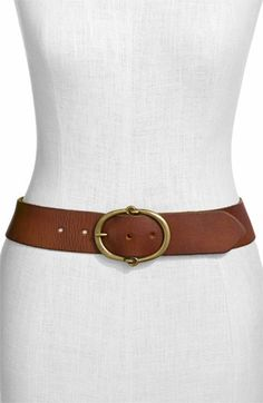 Lauren by Ralph Lauren Leather Belt in Dark Brown