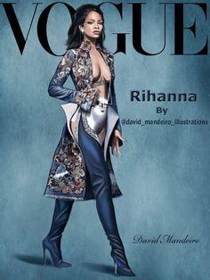 Rihanna by David Man