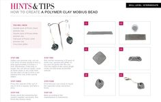 Free step by step tutorial: How to create a polymer clay mobius bead with jewellerymaker.com