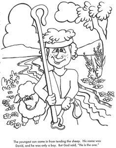 God chooses david as king coloring page coloring pages for David becomes king coloring page