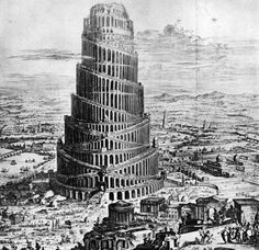 Fr. Athanasius Kircher, Reconstruction of The Tower of Babel, XVIIth Century