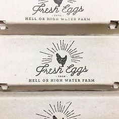 Egg Carton Design by Substation Paperie - Backyard Chickens - Fresh Eggs - Farm to Table - Photo by @hellorhighwaterfarm