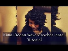How To: Crochet Braids Using Kima Ocean Wave Hair - YouTube