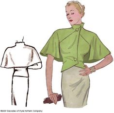 Reproduction 1930s Capelet Pattern || Decades of Style #3009