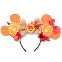 Mickey and Minnie Pumpkine head inspired Magic Mouse Ears   Magic Mouse Ears