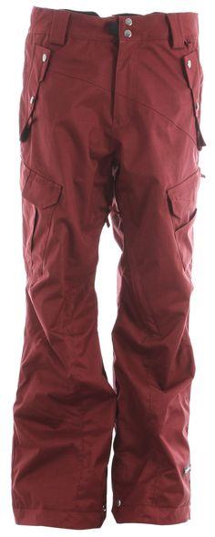 Ride Belltown Snowboard Pants Maroon Twill Mens