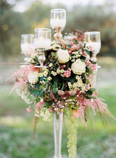 Gorgeous candelabra centerpiece: http://www.stylemepretty.com/little-black-book-blog/2015/04/07/rustic-elegant-provencal-wedding-inspiration/ | Photography: L'Artisan - http://artisan-photographe.fr/
