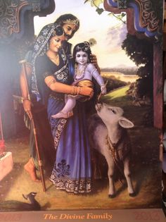 The Divine Family w/ Baby Krishna