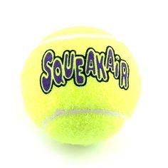 Jouet type balle de tennis chien Kong Airdog Squeakair pour jouet avec votre chien pendant des heures !  #Kong #balle #tennis #chien #jouet