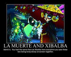 La Muerte and Xibalba Motivational Poster by AnimeMonkeyGirlFan
