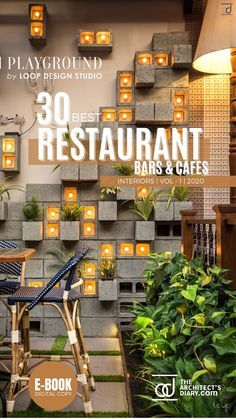 30 Best Restaurant Interior design in India is a collection of amazing Restaurant + Cafes + Bars design around the country, with this E-Book we believe to provide design inspiration to the readers. Also, the e.book is a well-curated design from the most innovative and established design firms. Restaurant Interiors, Restaurant Interior Design, Cafe Interior, Restaurant Bar, Play Pool, Modern House Plans, Cafe Bar, Mid Century House, Design Firms