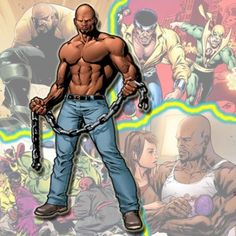 Luke Cage - Born & raised in Harlem, Carl Lucas spent his youth in a gang called the Bloods. Adopting the alias Luke Cage & donning a distinctive costume, he launched a career as a Hero for Hire, helping anyone who could meet his price. Cage was recently recruited into a new incarnation of the Avengers and he and Jessica, who he had a one-night stand with, had a daughter and the two got married.