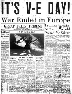 Victory In Europe Day (8th May,1945)
