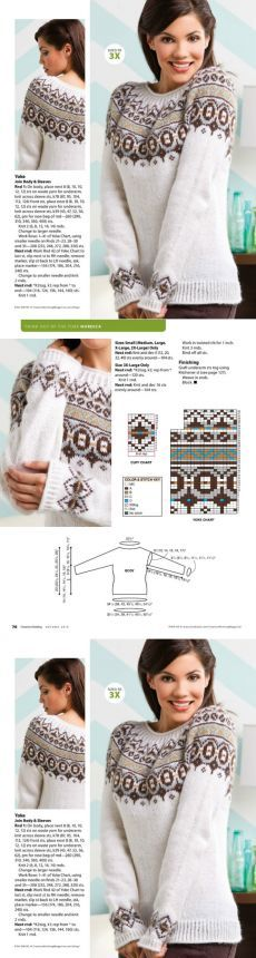 Жаккардовое вязание Home Trends home paint color trends 2017 Knitting Charts, Knitting Stitches, Knitting Patterns Free, Knit Patterns, Hand Knitting, Moda Crochet, Knit Crochet, Pull Jacquard, Icelandic Sweaters