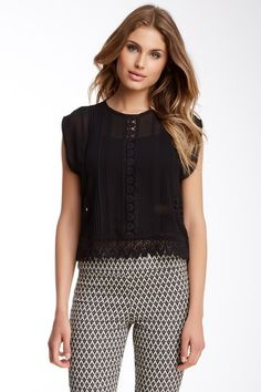 Nicole Miller Vintage Rose Embroidery Top by Assorted on @HauteLook