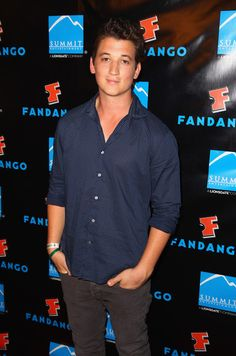 Miles Teller. Good to know I'm not the only one who thinks he's a total cutie!